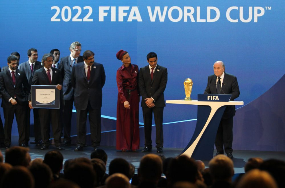 The 2022 FIFA World Cup is set to take place in Qatar. The competition is scheduled to begin in November, which is right in the middle of European league seasons and could cost those leagues millions of dollars. (Karim Jaafar/AFP/Getty Images)