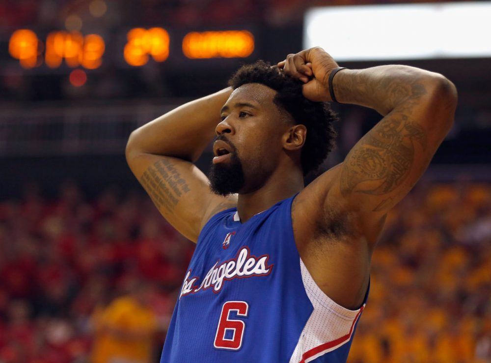 DeAndre Jordan decided to sign with the Dallas Mavericks, before turning back to his previous team, the Los Angeles Clippers. Jordan may have been aided in the decision by some friend of his. (Scott Halleran/Getty Images)