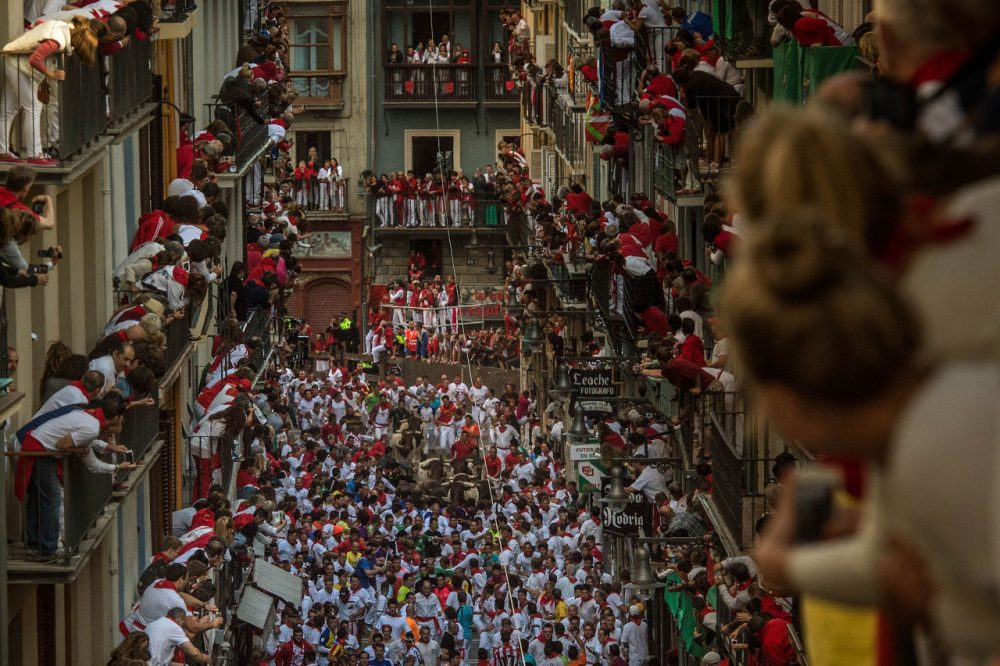 The Running Of The Bulls attracts thousands to Pamplona. (David Ramos/Getty Images)