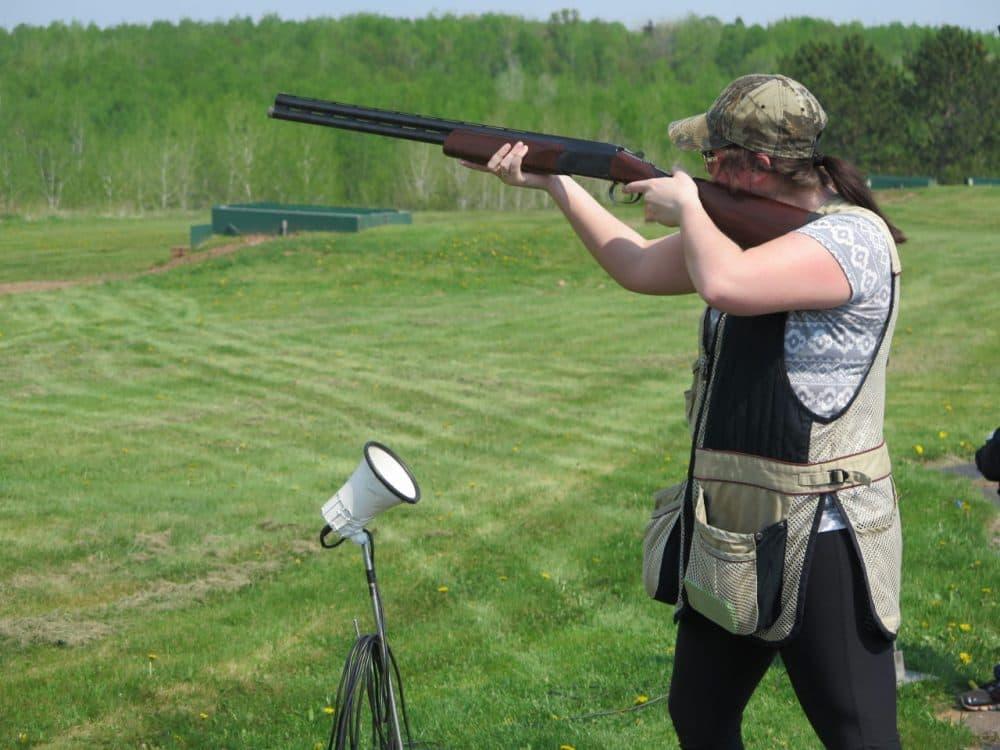 With 8,600 participants, trap shooting is Minnesota's fastest growing school sport. (Dan Kraker/OAG)