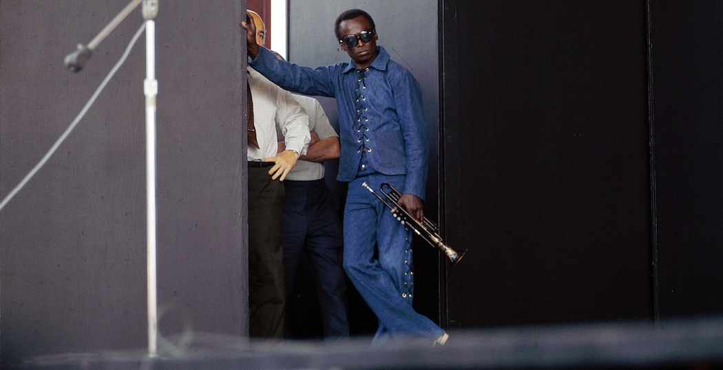 Miles Davis poised to take the Newport stage.  (David Redfern/Redferns)