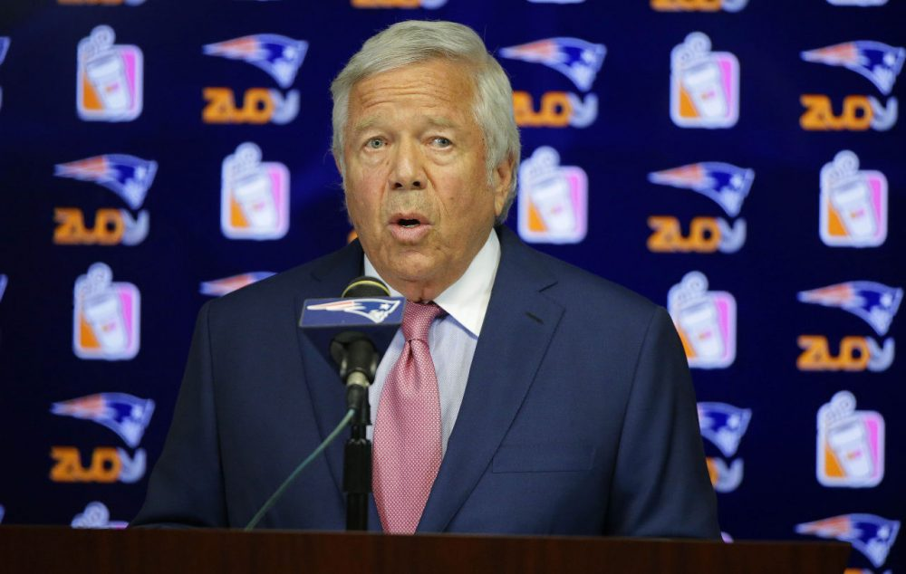 """New England Patriots owner Robert Kraft blasted the NFL, calling its decision to uphold the four-game suspension of Tom Brady """"unfathomable."""" (Stephan Savoia/AP)"""