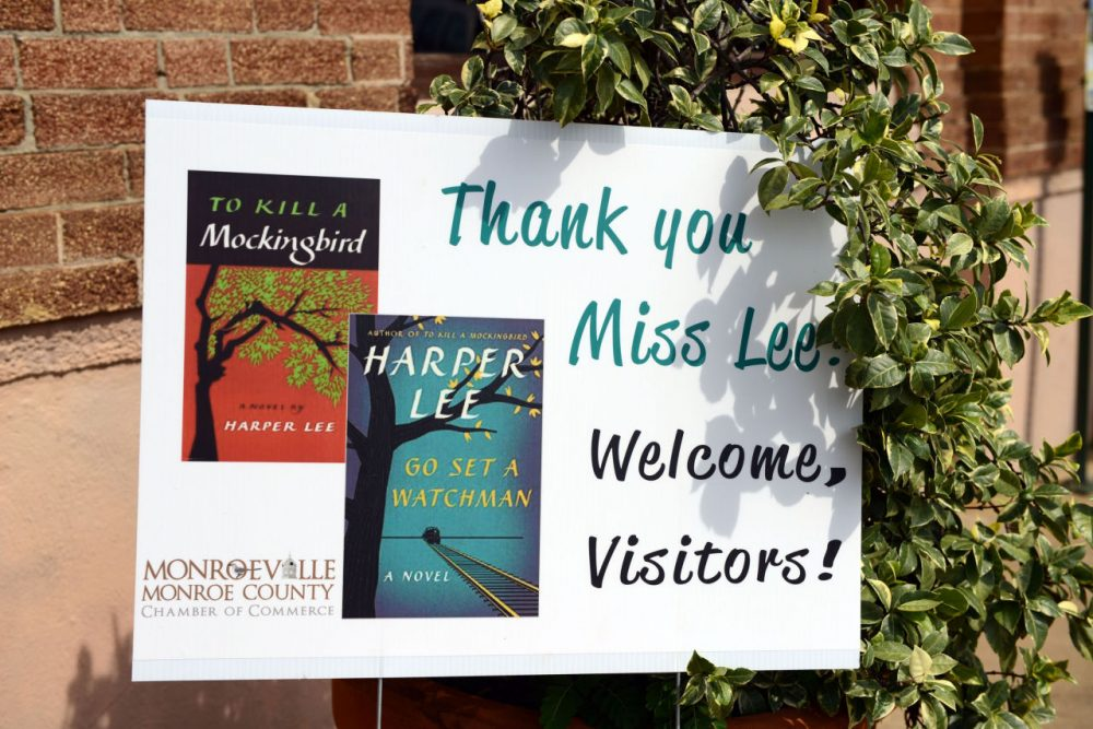 "Harper Lee's new book ""Go Set A Watchman"" is released in the hometown of ""To Kill a Mockingbird"" author Harper Lee, in Monroeville, AL, Tuesday, July 14, 2015. (AP)"