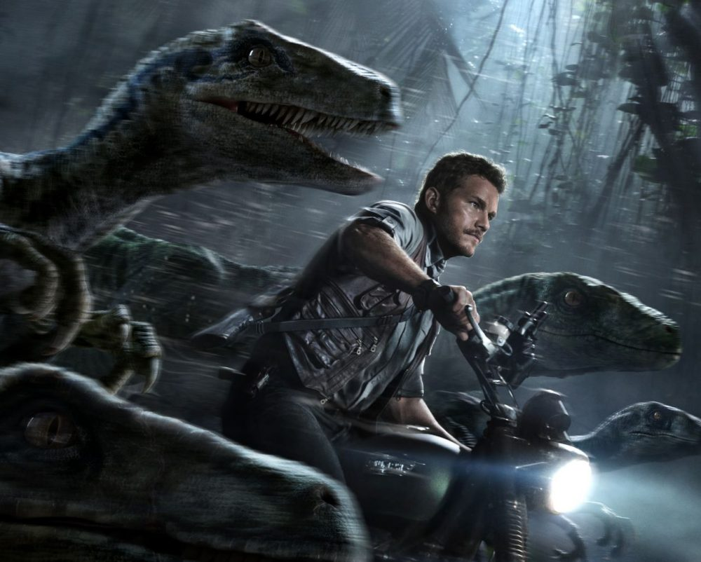 "Promotional image for ""Jurassic World"" featuring  Chris Pratt. (Universal Studios & Amblin Entertainment)"