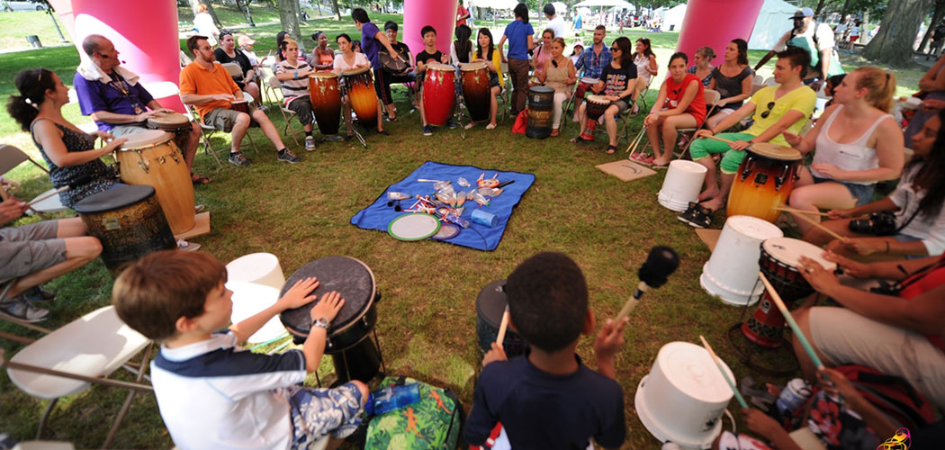 Drumming at the Outside the Box Festival. (Courtesy)