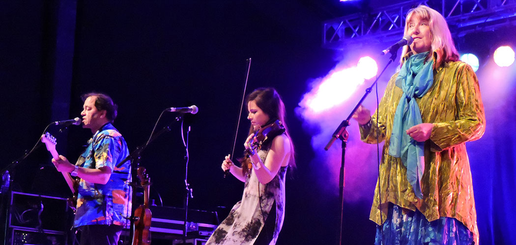 Maddy Prior (right) sings with the English folk-rock band Steeleye Span. (Stephen Cooke)
