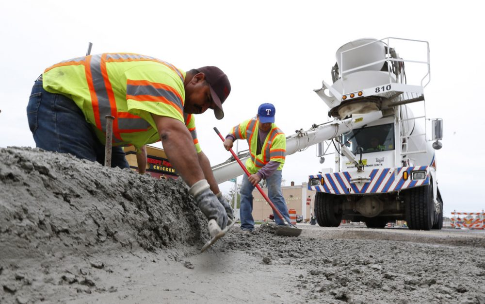 Road construction in Detroit in May. (Paul Sancya/AP)