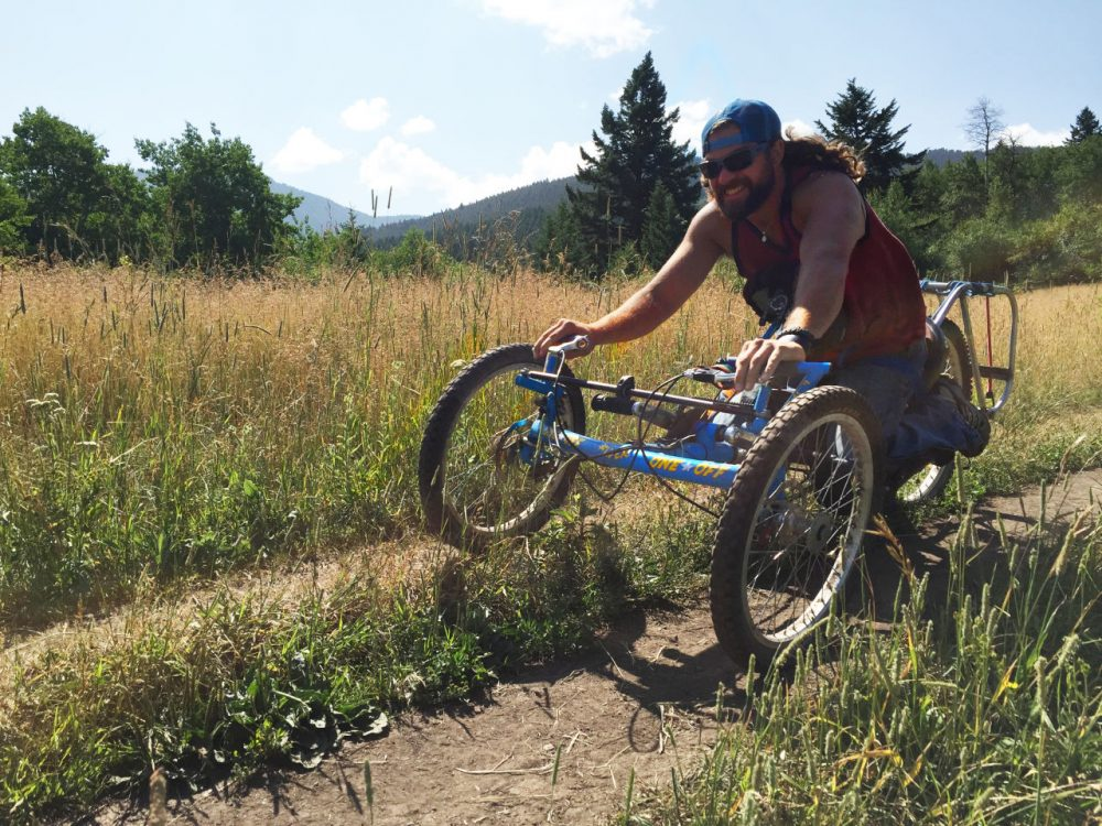 After a hiking accident David Poole was paralyzed from the sternum down. He was unable to traverse the backcountry after his injury, until he found handcycling. (Liz Welles/Only A Game)