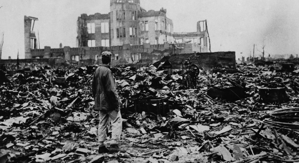A huge expanse of ruins left the explosion of the atomic bomb on August 6, 1945 in Hiroshima. (AP)