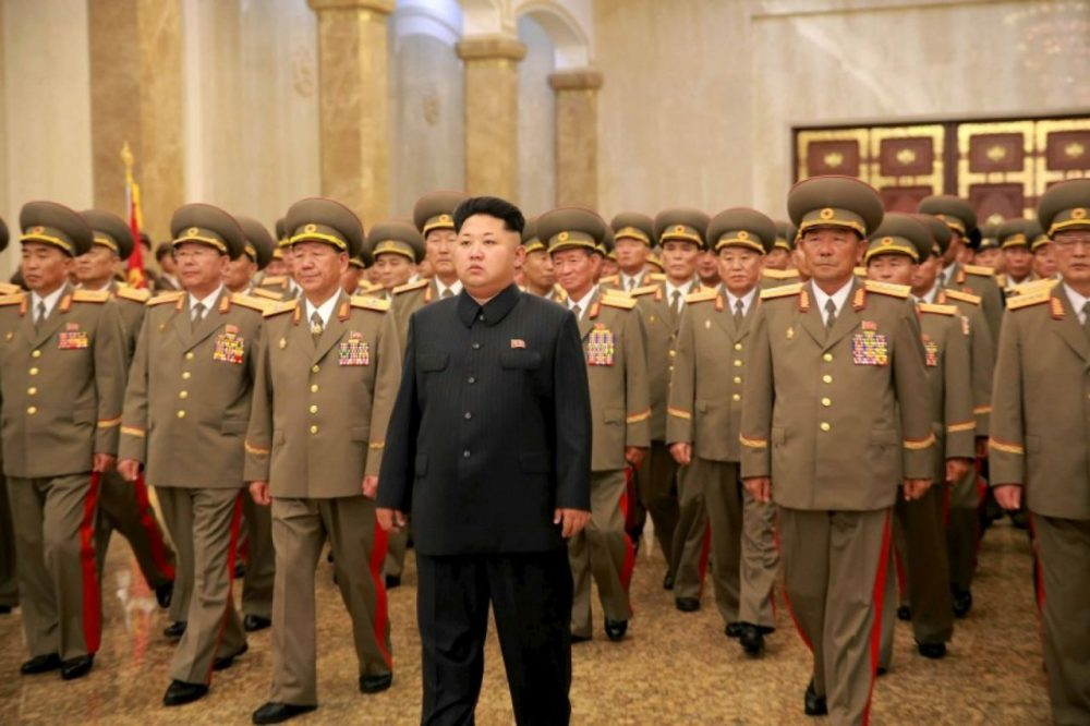 North Korean leader Kim Jong Un is pictured during the 62nd anniversary of the end of the Korean War in this undated photo released by North Korea's Korean Central News Agency (KCNA) in Pyongyang on July 27, 2015. (KCNA)