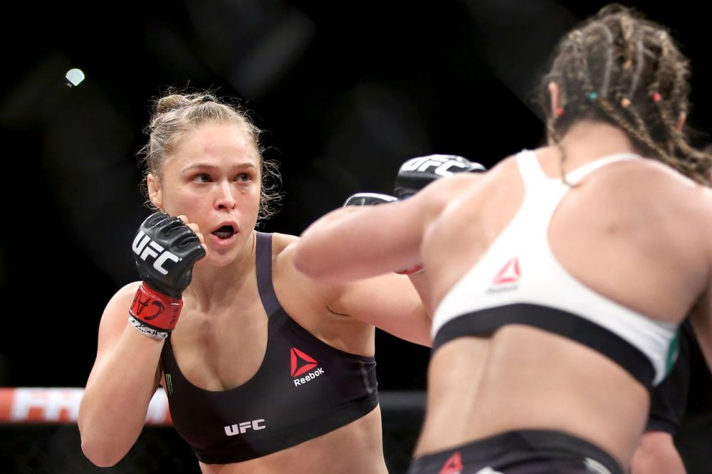 """Pedro predicts Rousey will be on top of her sport for a """"very, very long time."""" ( Matthew Stockman/Getty Images)"""