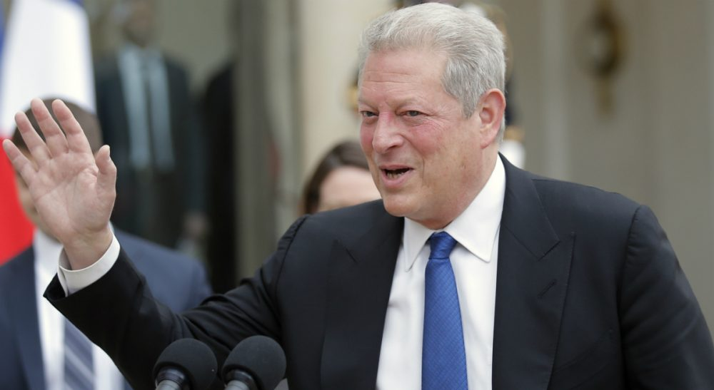 Al Gore definitely has the established bona fides to take another crack at the presidency. But is such a quest politically wise or even realistic? In this picture, the former vice president waves to the media after his meeting with French president Francois Hollande, at the Elysee Palace in Paris, France, Monday, May 18, 2015. (Francois Mori/AP)