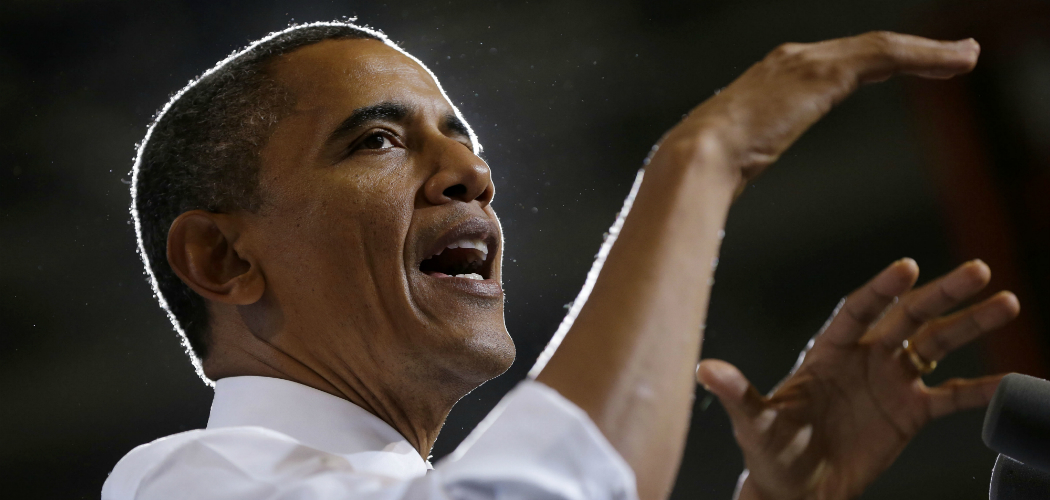 The White House is launching an official channel on Spotify with a pair of playlists it says President Barack Obama created himself. Obama appears here in a file photo from a campaign event in Ohio in September 2012. (Pablo Martinez Monsivais/AP)