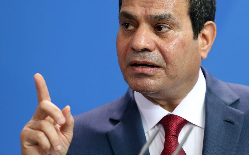 Egyptian President Abdel Fattah el-Sisi speaks during a news conference with German Chancellor Angela Merkel on June 3, 2015 in Berlin, Germany. (Adam Berry/Getty Images)