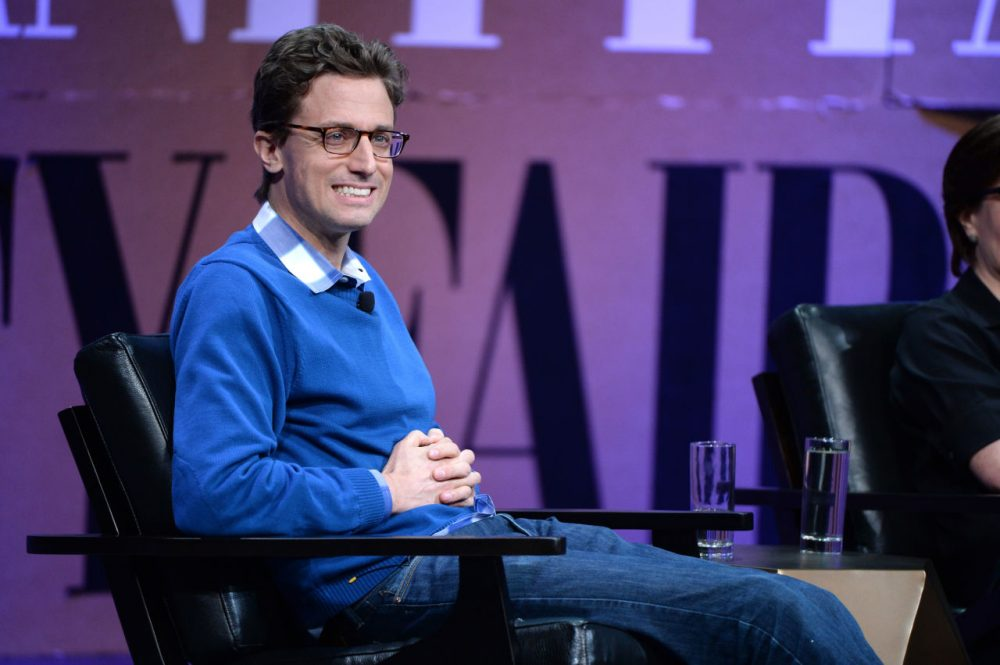 "Buzzfeed CEO Jonah Peretti speaks onstage during '""Missing Ink: The New Journalism"" at the Vanity Fair New Establishment Summit at Yerba Buena Center for the Arts on October 8, 2014 in San Francisco, California. (Michael Kovac/Getty Images for Vanity Fair)"