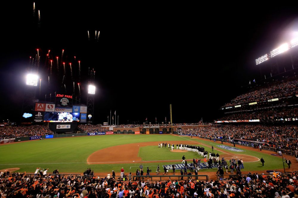 MLB teams no longer sell seats on the field -- nevertheless, teams like the San Francisco Giants have found ways to make money: Forbes estimates the team is worth $2 billion. (Jamie Squire/Getty Images)