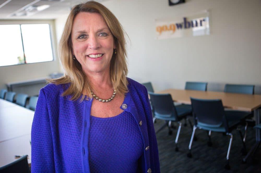 Secretary of the Air Force Deborah Lee James in the WBUR studios. (Jesse Costa/WBUR)