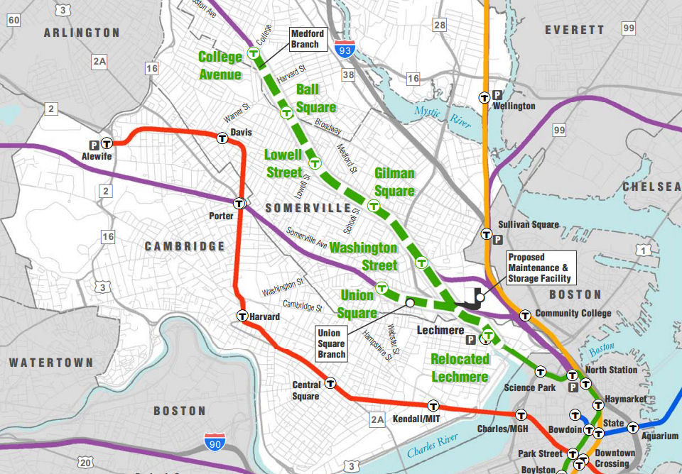 Green Line Extension Map Questions Raised About Green Line Extension | Radio Boston