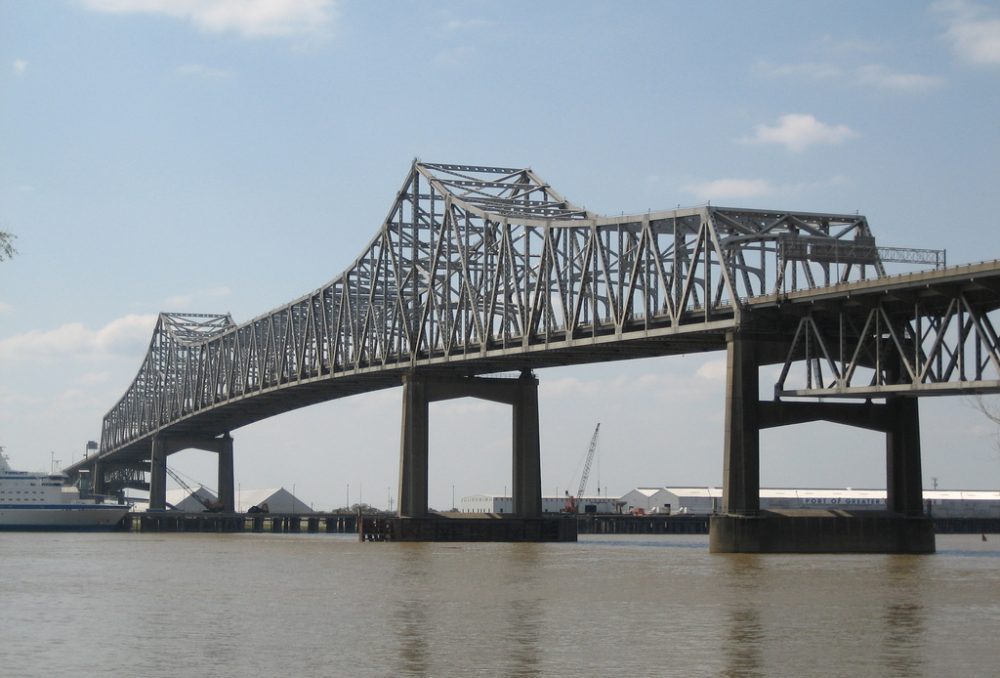 The bridge over the Mississippi River into Baton Rouge often becomes congested with traffic. (christopherlin/Flickr)