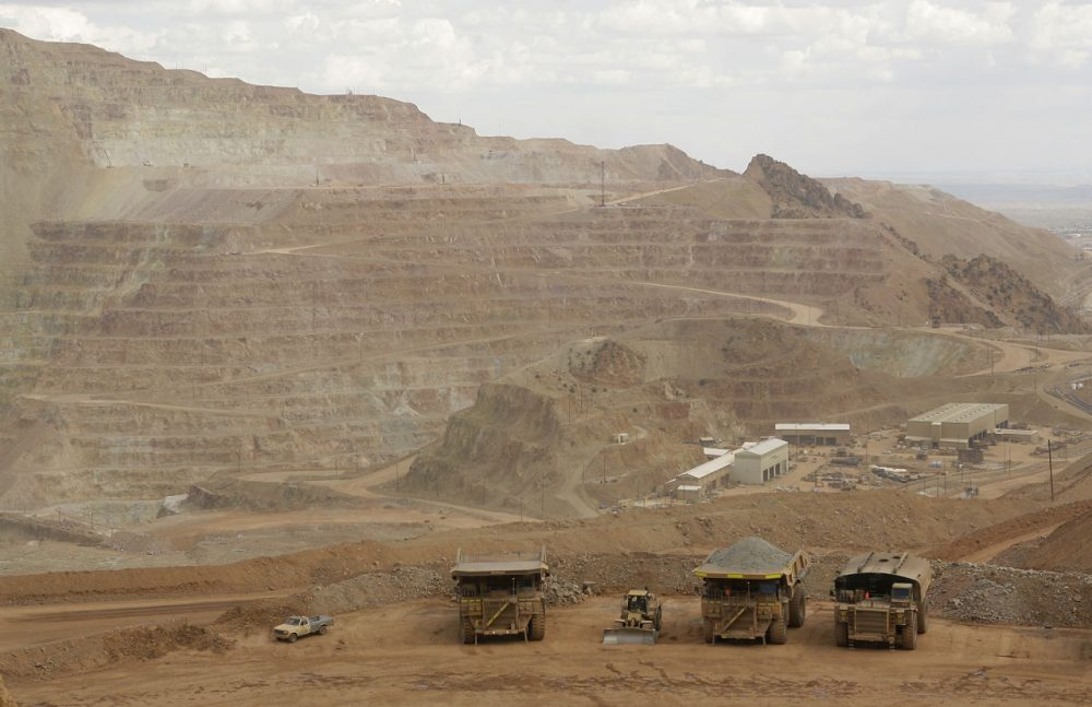 The large copper mining operation covers several hillside digs at the Phelps Dodge copper mining facility Thursday, Aug. 23, 2007 in Morenci, Ariz. (Ross D. Franklin/AP)