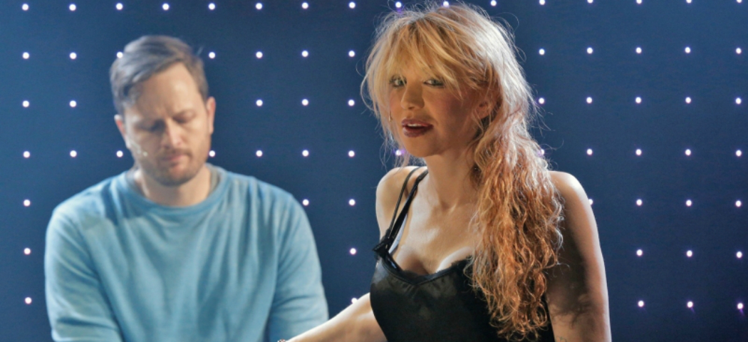 """Todd Almond and Courtney Love share the stage in """"Kansas City Choir Boy"""" at the Oberon this season. (Cory Weaver)"""