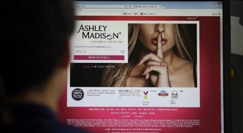 I just found out my spouse had an account on the adultery site Ashley Madison. Alas, that's not the end of the story. (Lee Jin-man/AP)