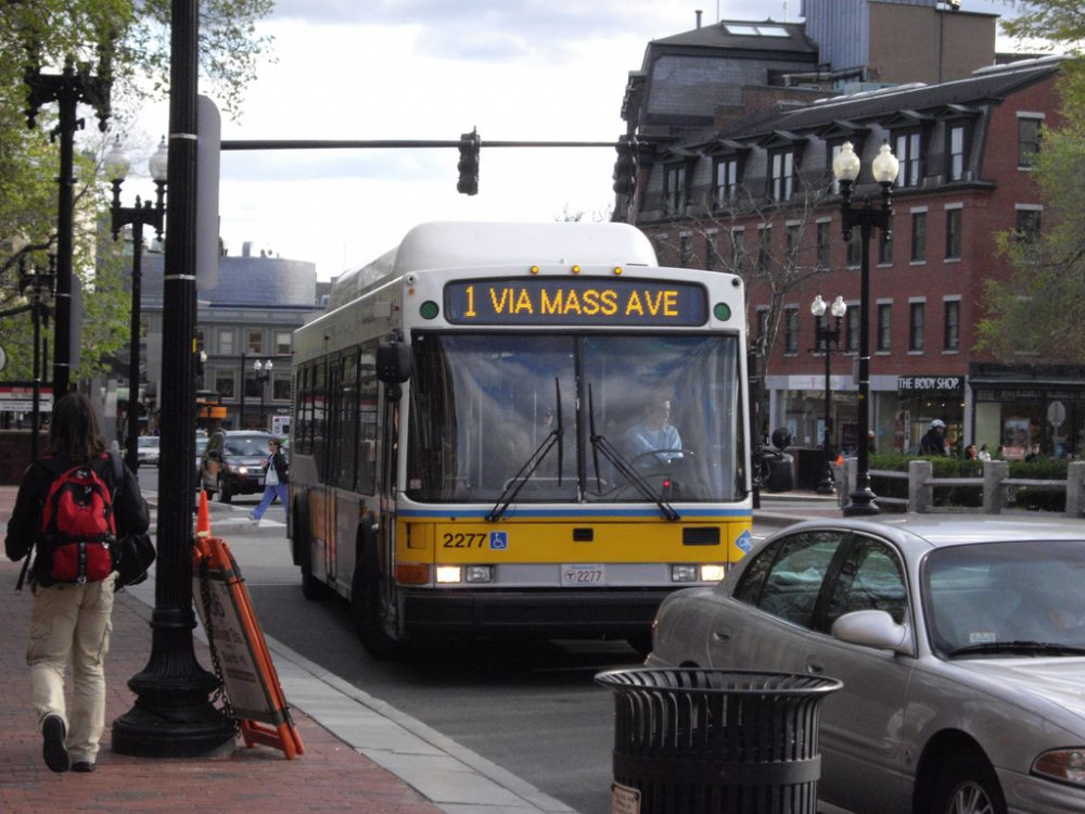 The MBTA says the buses and drivers currently on the routes targeted for privatization would be re-deployed to other areas of the system that need more service. (bradlee9119/Flickr)