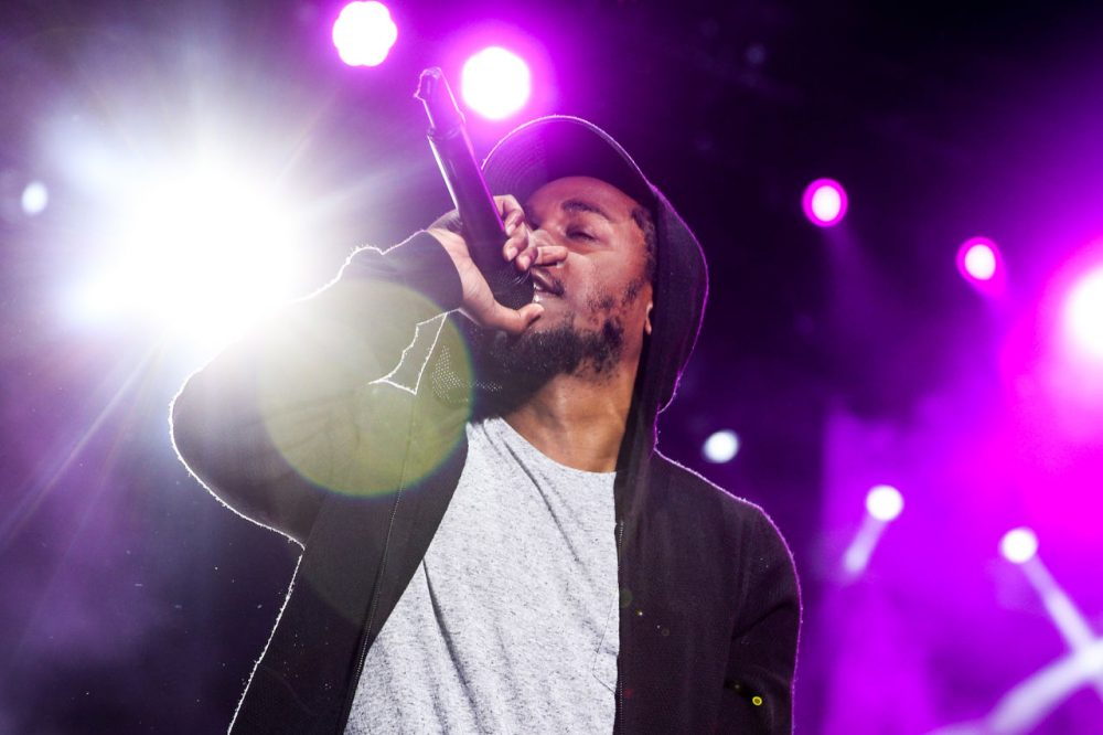 """Kendrick Lamar's song """"Alright"""" tackles police violence. (Rich Fury/AP)"""