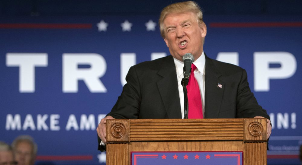 """At last week's GOP presidential debate, Donald Trump said, """"I don't have time to be politically correct."""" Trump is pictured here at a rally in Bluffton, S.C., Tuesday, July 21, 2015. (Stephen B. Morton/AP)"""