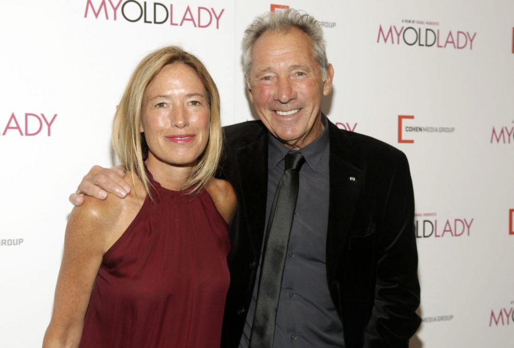 """Israel Horovitz with his daughter, Rachael, at the premiere of his movie """"My Old Lady"""" in 2012. His daughter produced the film. (Andy Kropa/AP)"""