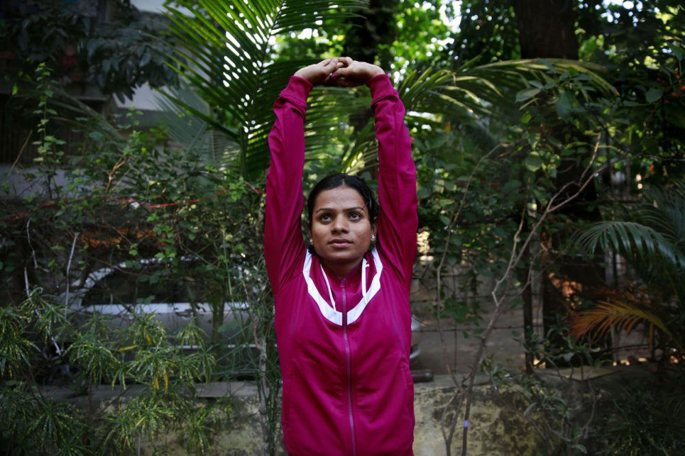 Indian sprinter Dutee Chand has hyperandrogenism, high levels of testerone. This made her ineligible to run, until she took the issue to court and won. (Rafiq Maqbool/AP)