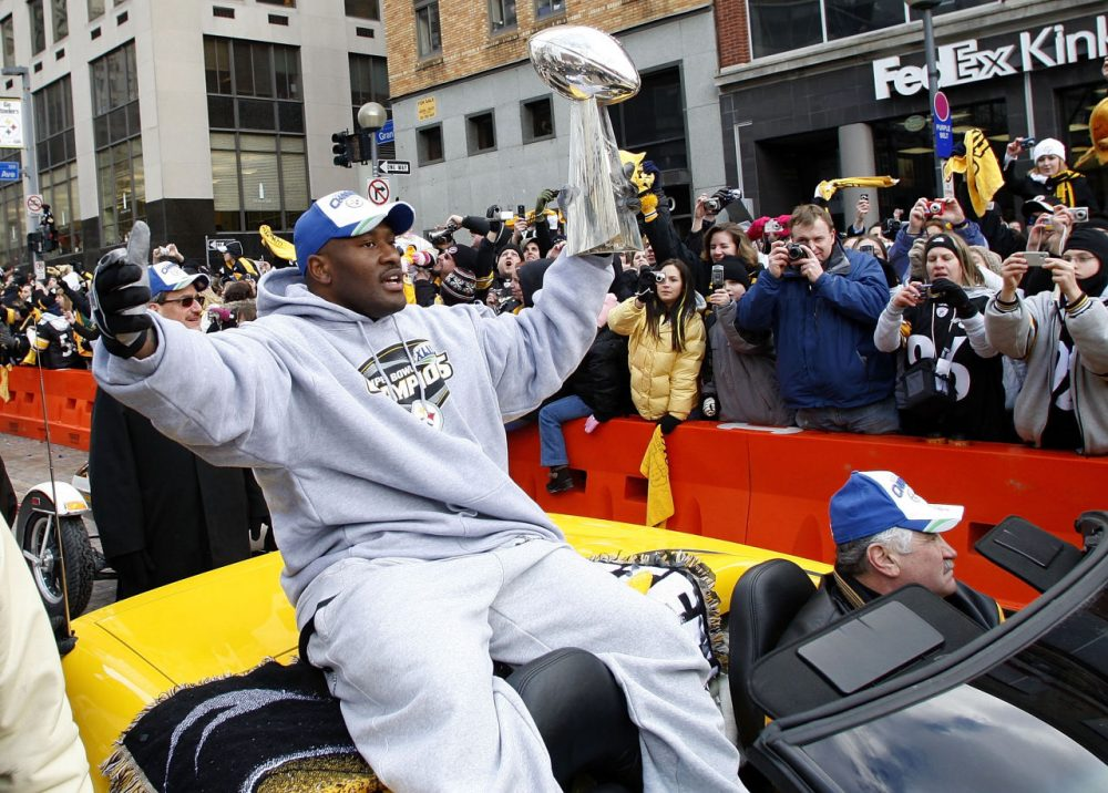 James Harrison had to work to earn the Vince Lombardi trophy when he helped the Pittsburgh Steelers win the Super Bowl. He stripped his two kids of their participation trophies this week because they didn't 'earn' them. (Gregory Shamus/Getty Images)