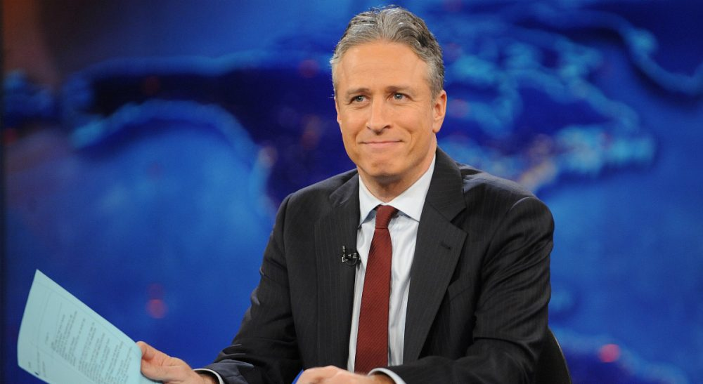 """John Winters: """"Jon Stewart's righteous anger has served us well all these years. Now what?"""" Pictured: Jon Stewart, who will host his last episode of The Daily Show  on Thursday, Aug. 6, 2015. (Brad Barket/ AP)"""