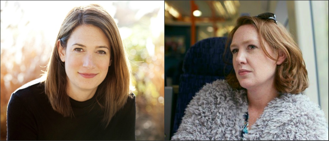 "On the left, Gillian Flynn, author of ""Gone Girl"" and on the right, Paula Hawkins, author of ""The Girl on the Train."" (Gillian Anderson and Kate Neil)"