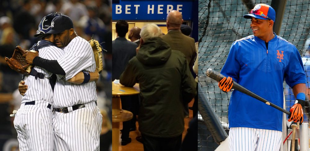 CC Sabathia thinks team chemistry is the answer in the playoffs. New Jersey can't legalize sports betting once again, and Yoenis Cespedes is propelling the Mets into the playoffs. (Getty Images)