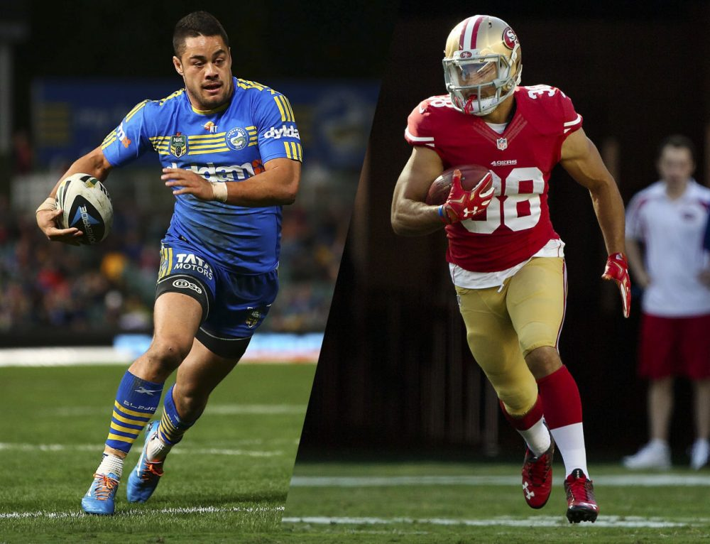 Jarryd Hayne was an Australian-Rules Football League MVP. Now, Hayne is trying to make the San Francisco Giants roster. (Getty Images)