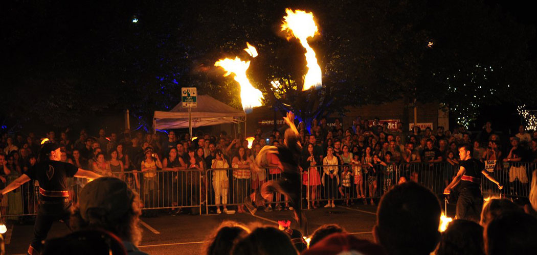 """The """"Ignite! A Global Street Food and Fire Festival"""" in Somerville. (Jo Oltman)"""