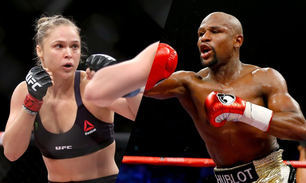Ronda Rousey thinks she can take Floyd Mayweather in a fight. She said so this week. (Getty Images)