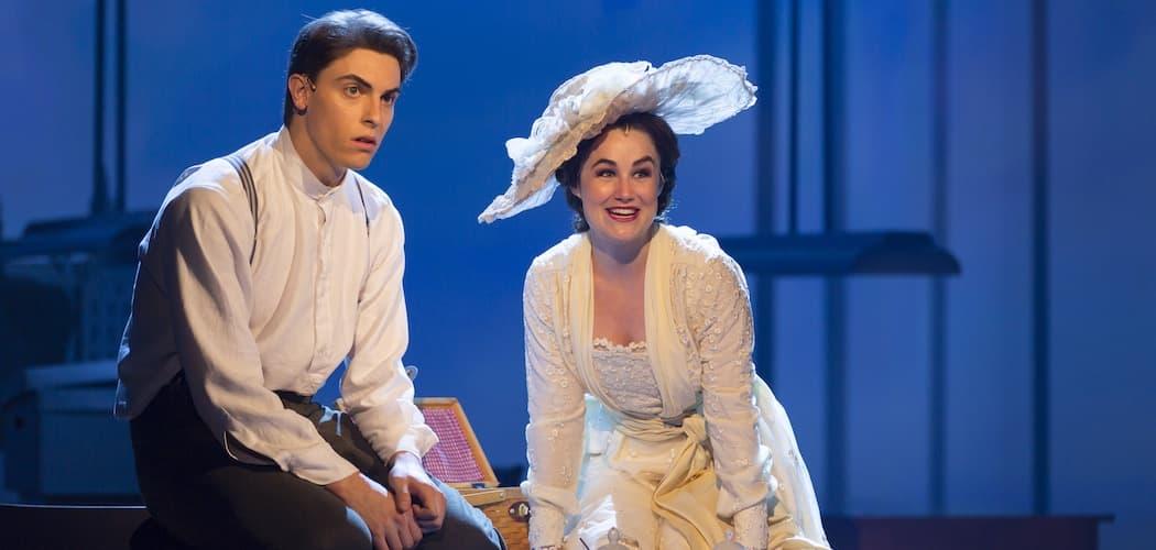 """Derek Klena and Lauren Worsham in """"Unknown Soldier"""" at Williamstown Theatre Festival (T. Charles Erickson)"""