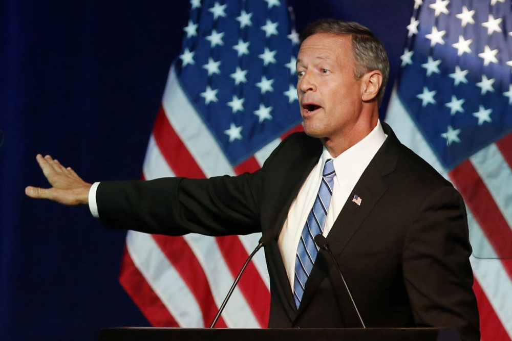 Democratic presidential candidate, former Maryland Gov. Martin O'Malley addresses the summer meeting of the Democratic National Committee, Friday, Aug. 28, 2015, in Minneapolis. (Jim Mone/AP)