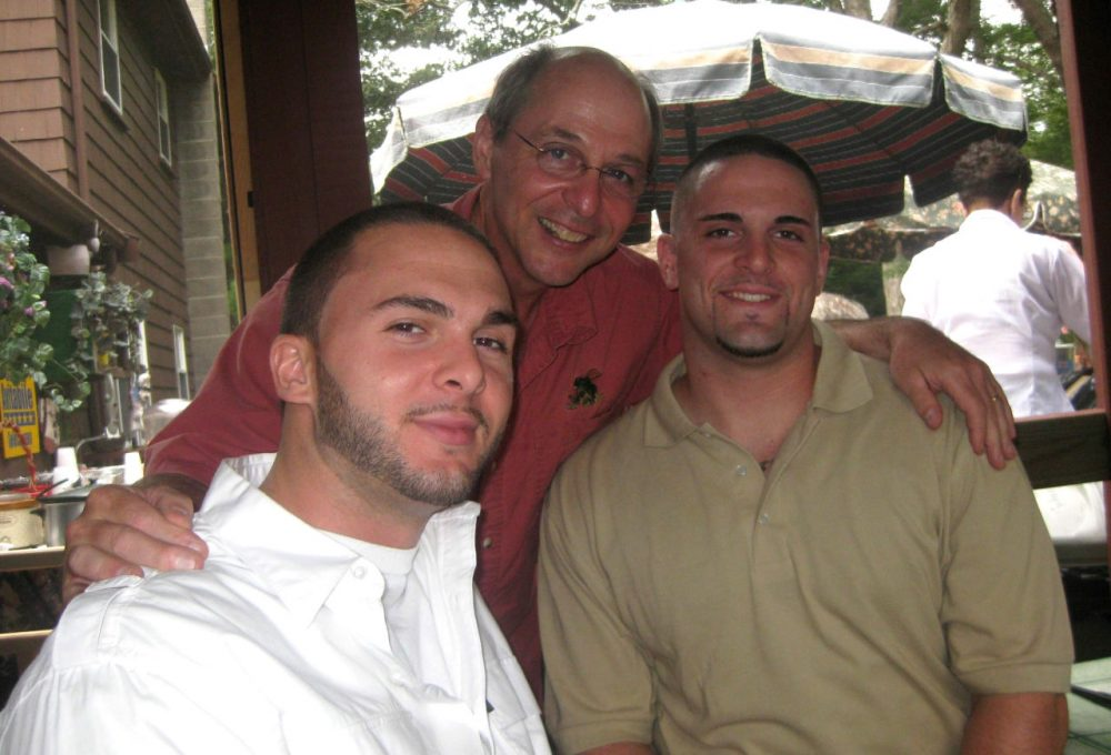 Patrick Avitabile (left) and James Avitabile (right) are pictured with their father Louis Avitabile (center). Patrick died of an overdose in August 2015; James died of an overdose in July 2013. (Courtesy of the Avitabile family)