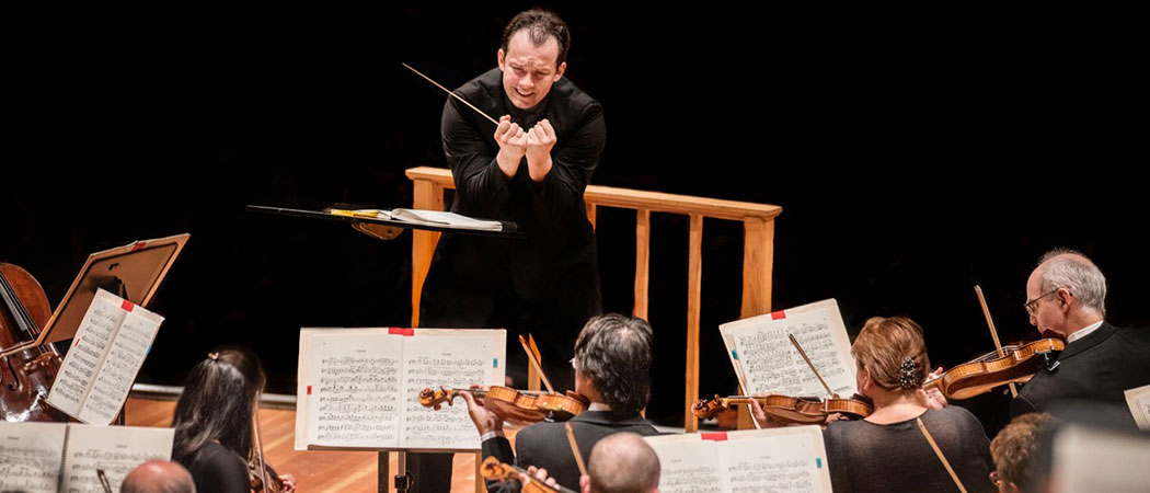 Andris Nelsons and the BSO perform in Berlin on Sept. 5. (Courtesy Marco Borggreve/Boston Symphony Orchestra)
