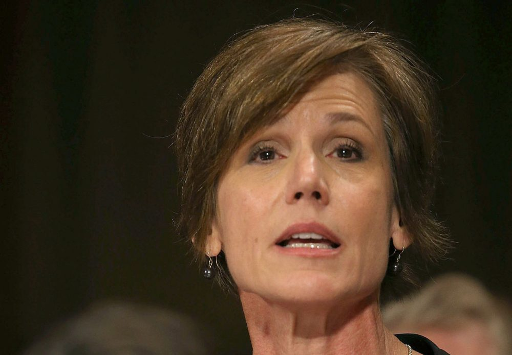 Deputy Attorney General Sally Q. Yates, the author of the Justice Department memo.  (Mark Wilson/Getty Images)