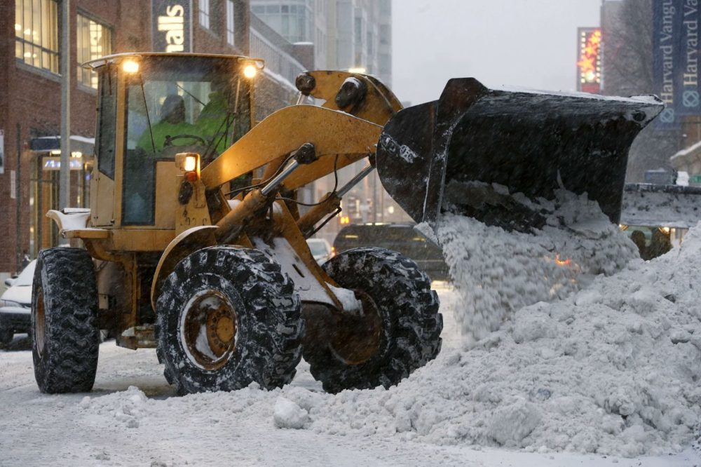 Boston is beginning its collection of salt to prepare for the upcoming winter. While a heat wave in the city just ended, memories of last winter's record snowfall linger for many residents. (Michael Dwyer/AP)
