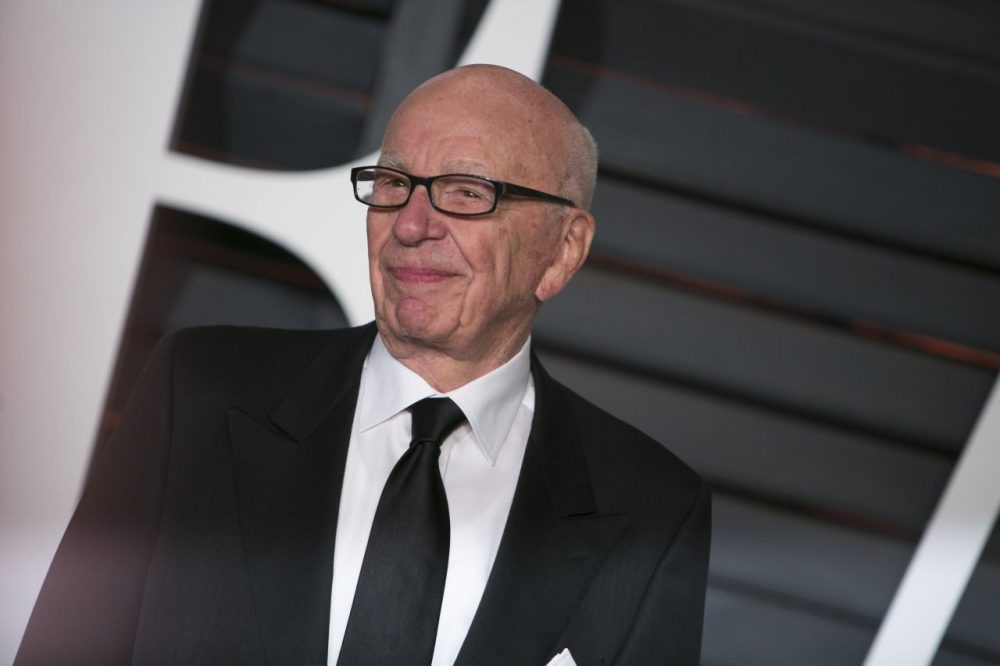 Rupert Murdoch arrives to the 2015 Vanity Fair Oscar Party on February 22, 2015 in Beverly Hills, California. (Adrian Sanchez-Gonzalez/AFP/Getty Images)