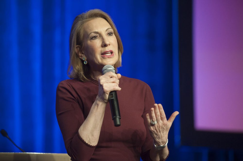Republican presidential candidate Carly Fiorina speaks during the welcome reception at the Republican National Committee Spring meeting May 13, 2015 at The Phoenician in Scottsdale, Arizona. (Laura Segall/Getty Images)
