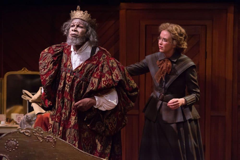 "John Douglas Thompson as Ira Aldridge and Christianna Nelson as Halina Wozniak in Shakespeare & Company's ""Red Velvet."" (Enrico Spada)"