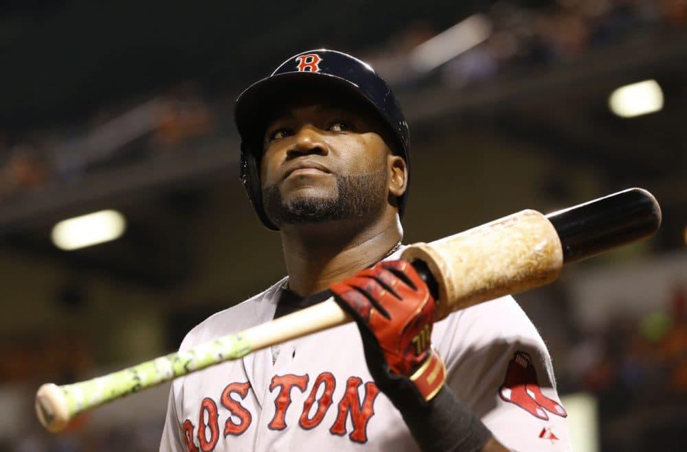 Red Sox designated hitter David Ortiz prepares for an at-bat against the Baltimore Orioles, Monday, Sept. 14, 2015, in Baltimore. (Patrick Semansky/AP)