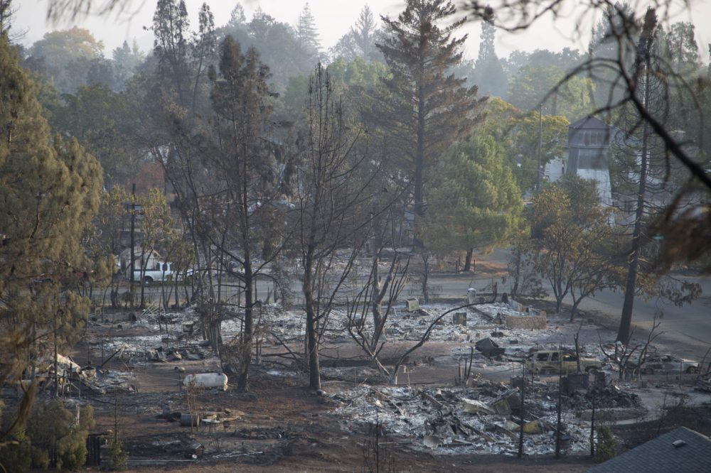 The ruins of homes that burned in the Valley Fire are seen on September 15, 2015 in Middletown, California. (David McNew/Getty Images)