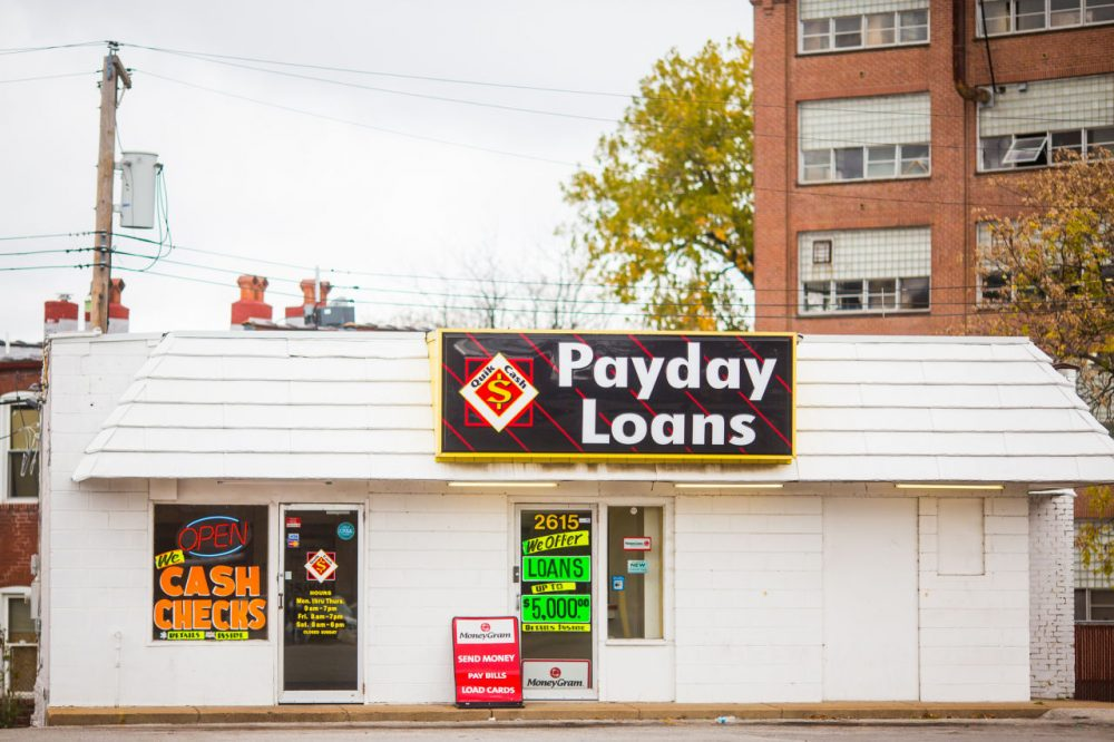 A check cashing and payday loan store is pictured in St. Louis, Missouri. (thomashawk/Flickr)
